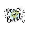international day of peace hand lettering vector image vector image
