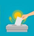 kazakhstan election banner background vector image