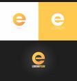 letter E logo design icon set background vector image vector image