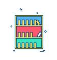 library icon design vector image vector image