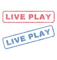 live play textile stamps vector image vector image
