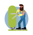 man takes care a tree vector image