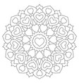 mandala with hearts coloring book page vector image vector image