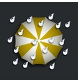modern yellow umbrella with drops vector image