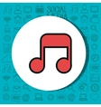 music note sound isolated icon vector image vector image
