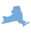 new york state map vector image