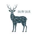 oh my deer scandinavian deer vector image vector image