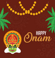 onam is an annual holiday and festival celebrated vector image vector image