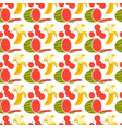 pattern seamless with fruit element doodle vector image vector image