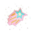 pink and blue cartoon funny shooting star