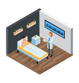 probiotic clinic isometric composition vector image vector image