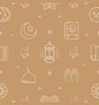 ramadan kareem pattern vector image vector image