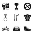 ring icons set simple style vector image