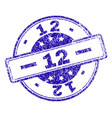scratched textured 12 stamp seal vector image