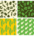 seamless patterns - hand drawn vegetables vector image vector image