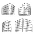 set of building vector image