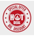Shopping hot offers and discounts vector image vector image