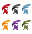 simple set of spartan helmet vector image