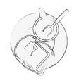 sliced bread food vector image