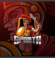 spartan sport mascot logo design vector image vector image