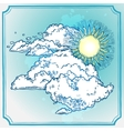 Sunny Sky Frame vector image vector image