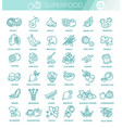 superfoods line icons health and diet vector image vector image