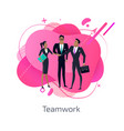 teamwork and business team abstract design vector image vector image