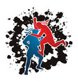 thai boxing action muay thai graphic vector image vector image