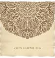 vintage parchment valentine card vector image vector image