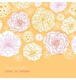 warm day flowers horizontal decor seamless pattern vector image vector image