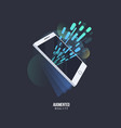 augmented reality visual technology stylized icon vector image