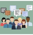 Business people group talking vector image