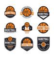set of basketball logos vector image
