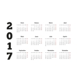 2017 year calendar in spanish isolated on white vector image