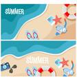 summer beach top view vector image