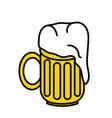 a beer mug vector image