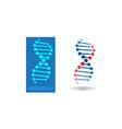 adn circles blood design for logo vector image