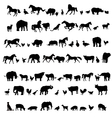 Animals and Birds Silhouette set vector image vector image