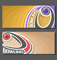 banners for bowling vector image