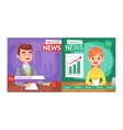 Breaking news people vector image vector image