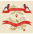 Christmas greeting banners vector image