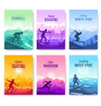 colorful covers with various sports rest day vector image