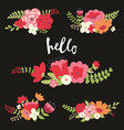 colorful floral set vector image