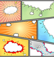 Comic style page pop-art vintage background vector image