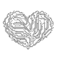 Computer heart vector image vector image