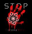 coronavirus 2019-ncov corona virus 3d icon blood vector image