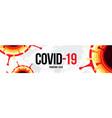 coronavirus covid19-19 sars-cov-2 social media vector image vector image