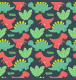 cute dinosaurs pattern design seamless pattern vector image vector image