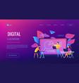 digital classroom landing page vector image vector image