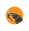 elephant logo sign emblem-03 vector image vector image